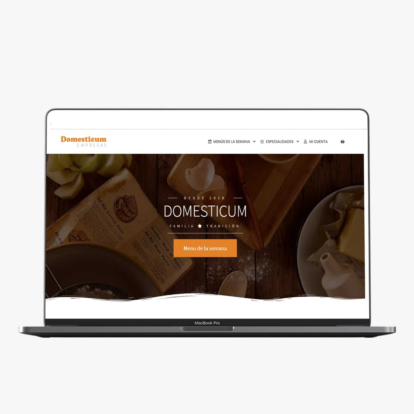 Diseño web de Domesticum