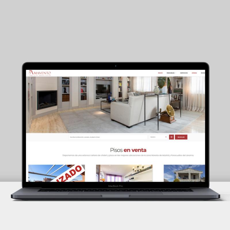 Diseño web de Amavento