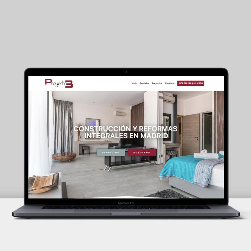 Diseño web de Proyecta3