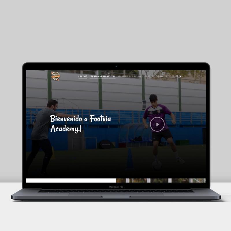 Diseño web de Footvia