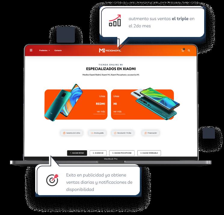 Diseño web de Miviciomovil