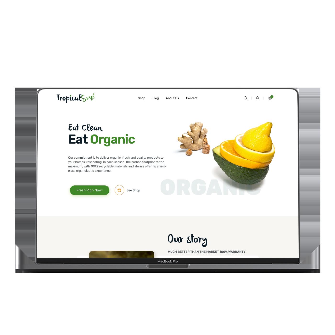 Diseño de Tienda online thetropicalsoul